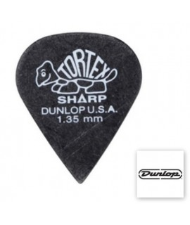 Dunlop 412P Tortex Sharp Black 1.35