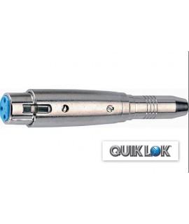 Quik Lok F/119-K Adattatore XLR F/Jack F