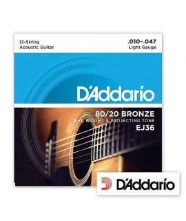 D'Addario EJ36 Bronze 10/47