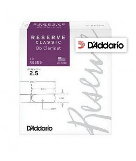 D'Addario Rico Reserve Classic 2.5 Clarinetto Si Bemolle