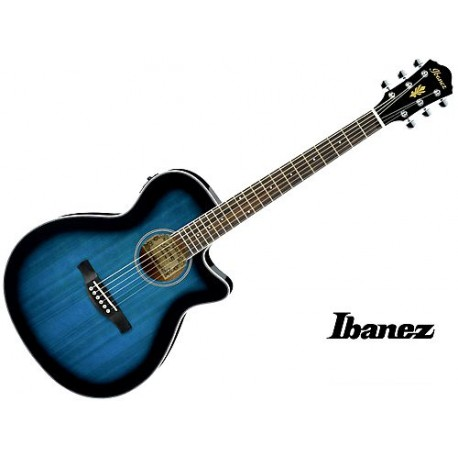 Ibanez AEG8E Transparent Blue Sunburst