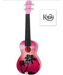 Ukulele Korala PUC-30-007 Pink Palm Tree