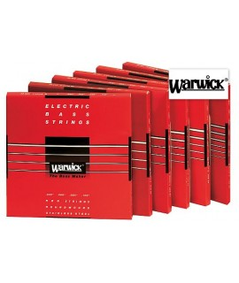 Warwick 42200 Set M 4 Red Strings 45/105