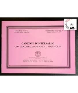 Educazione Musicale Metodo Edgar Willems - Canzoni d'Intervallo con Accompagnamento al Pianoforte
