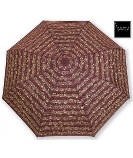Mini-Ombrello Musicale Bordeaux con Pentagramma e Note - ViennaWorld T0337