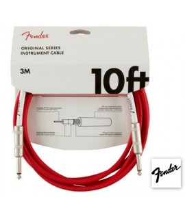 Fender Original Series Instrument Cable 3m Fiesta Red - Cavo Jack 3m
