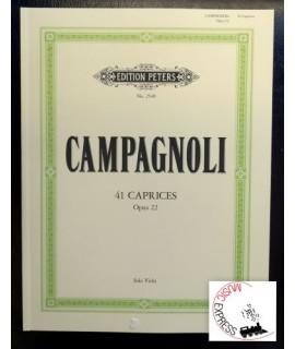 Campagnoli - 41 Caprices Opus 22 Solo Viola