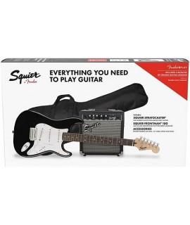 Fender Squier Stratocaster Pack SSS Lrl Black GigBag 10G