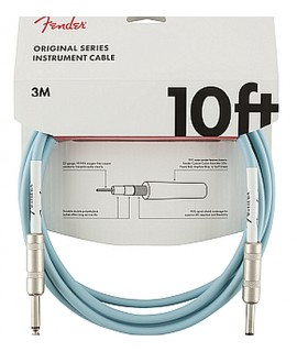 Fender Original Series Instrument Cable 3m Daphne Blue - Cavo Jack 3m