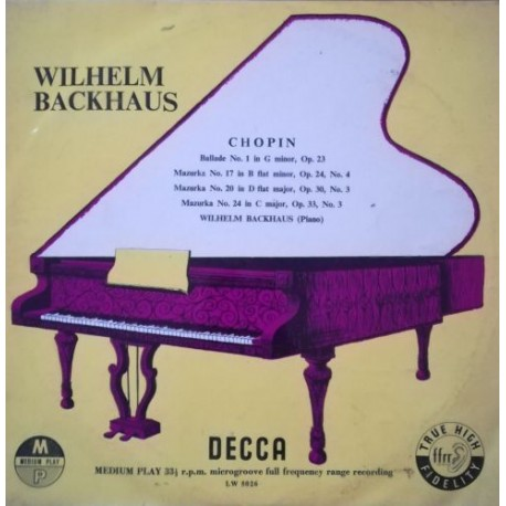 Wilhelm Backhaus - Chopin