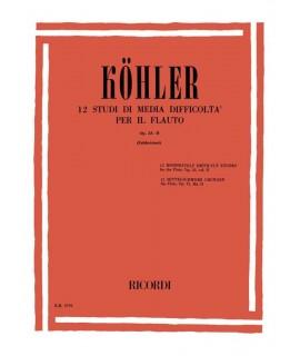 Köhler - 15 Studi Facili Per Il Flauto Op. 33-1