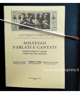 Letterio Ciriaco - Solfeggi Parlati e Cantati Appendice al III corso